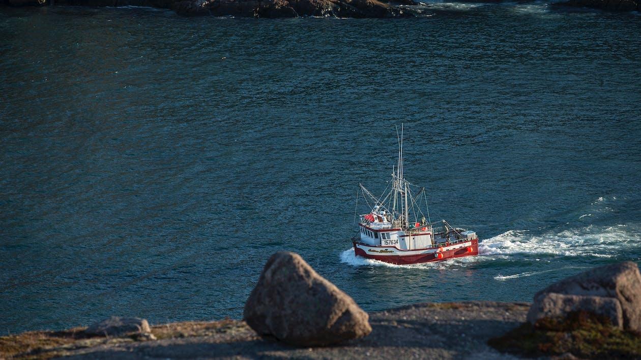 ακτή, αλιεία, αλιευτικό σκάφος