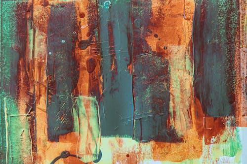 Бесплатное стоковое фото с Абстрактная живопись, абстрактный, акриловая краска, беспорядочный