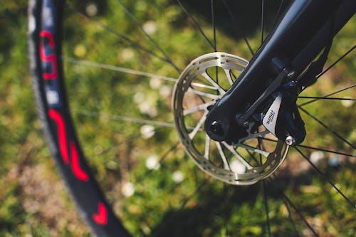 Black Bicycle Wheel in Tilt Shift Lens