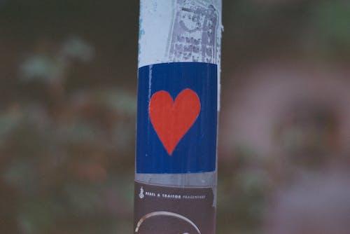 Free stock photo of heart, love, sticker, street life