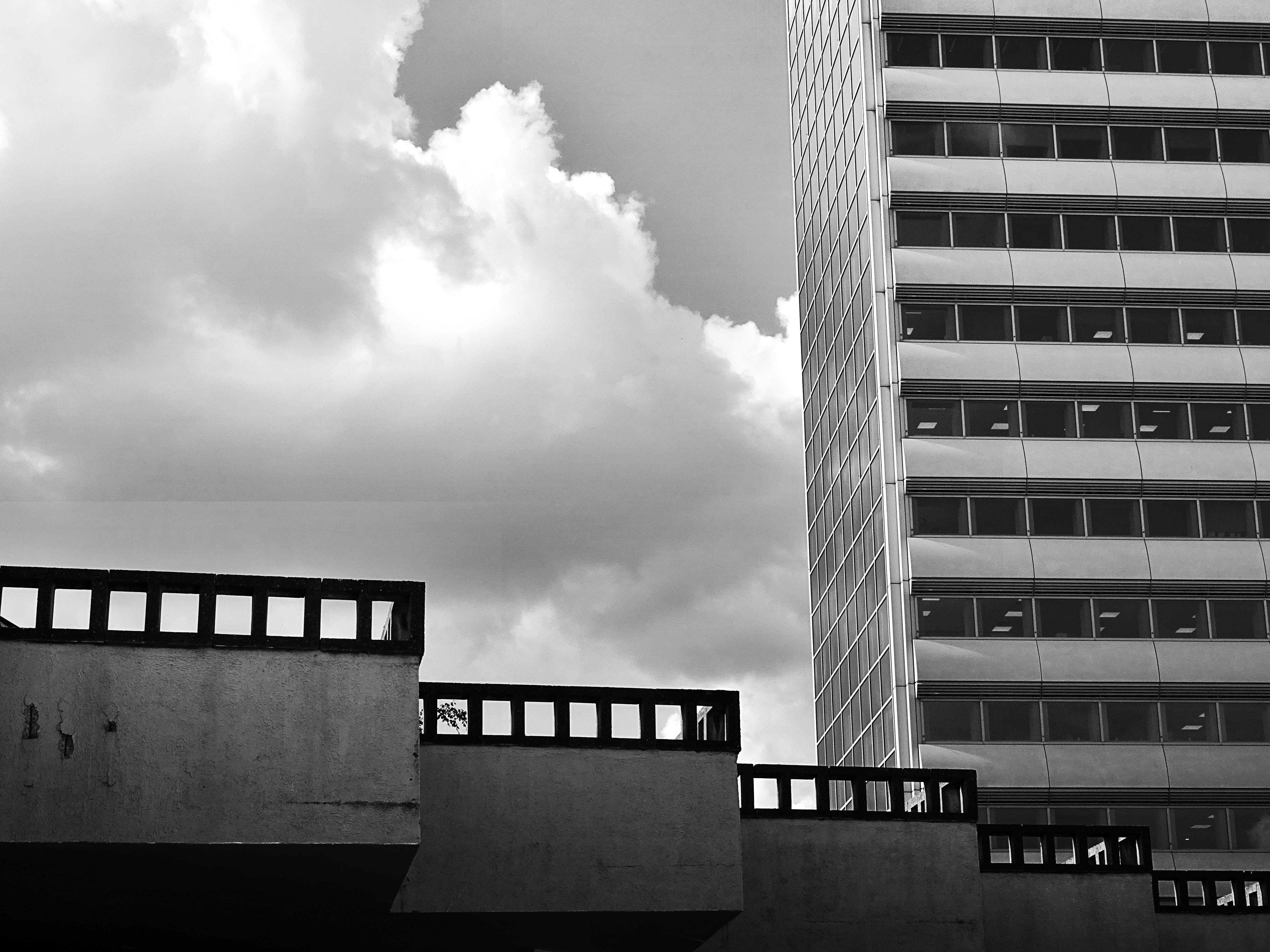Grayscale Photography of Building