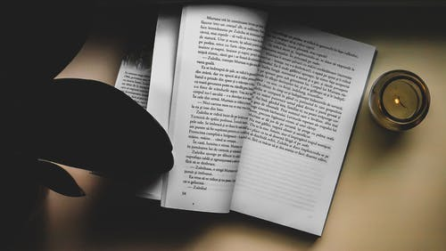 Free stock photo of autumn color, beige book, book, book and candle