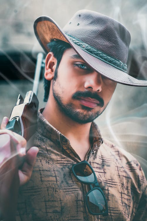 Free stock photo of cowboy, cowboy hat, man