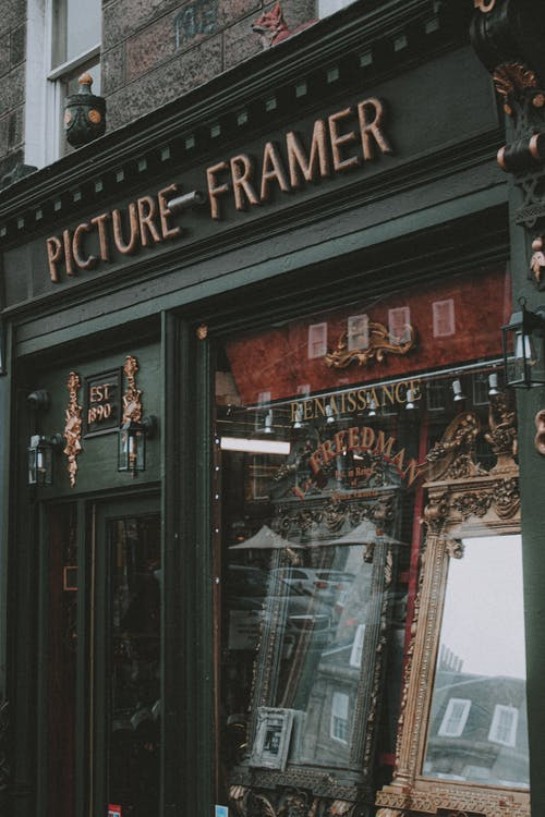 Shop of frames for pictures