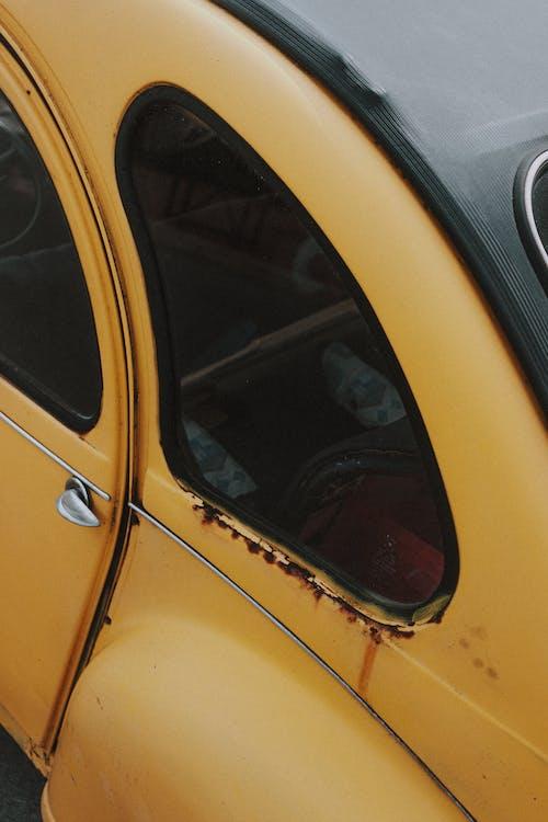 Windows of old retro car