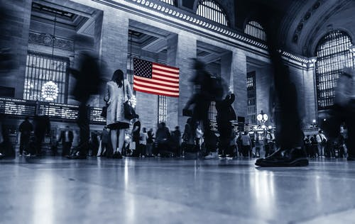 Free stock photo of america, blur, business, bussle