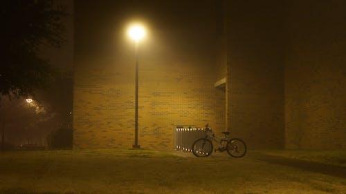 Free stock photo of bike, building, fog