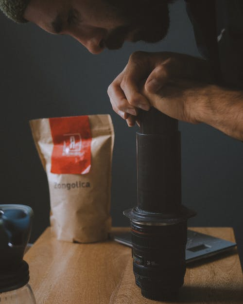 Free stock photo of aeropress, black coffee
