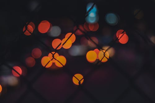 Orange and Blue Light Bokeh