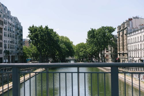 Free stock photo of canal, canal saint martin, paris, sunny