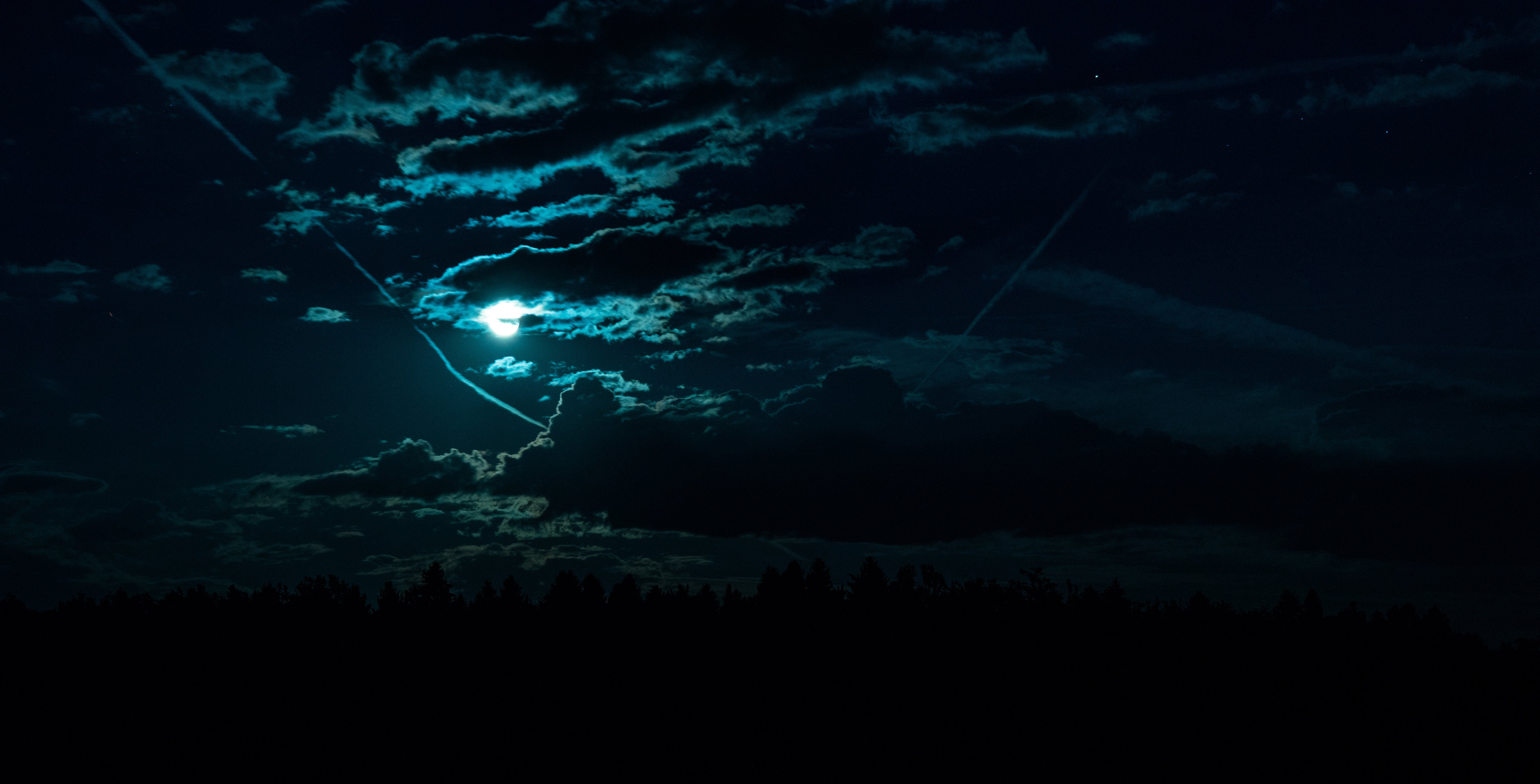 Free stock photo of clouds, darness, light, moon