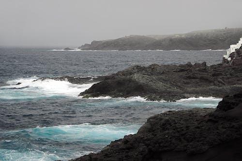 Free stock photo of atlantic ocean, canary islands, dark sea