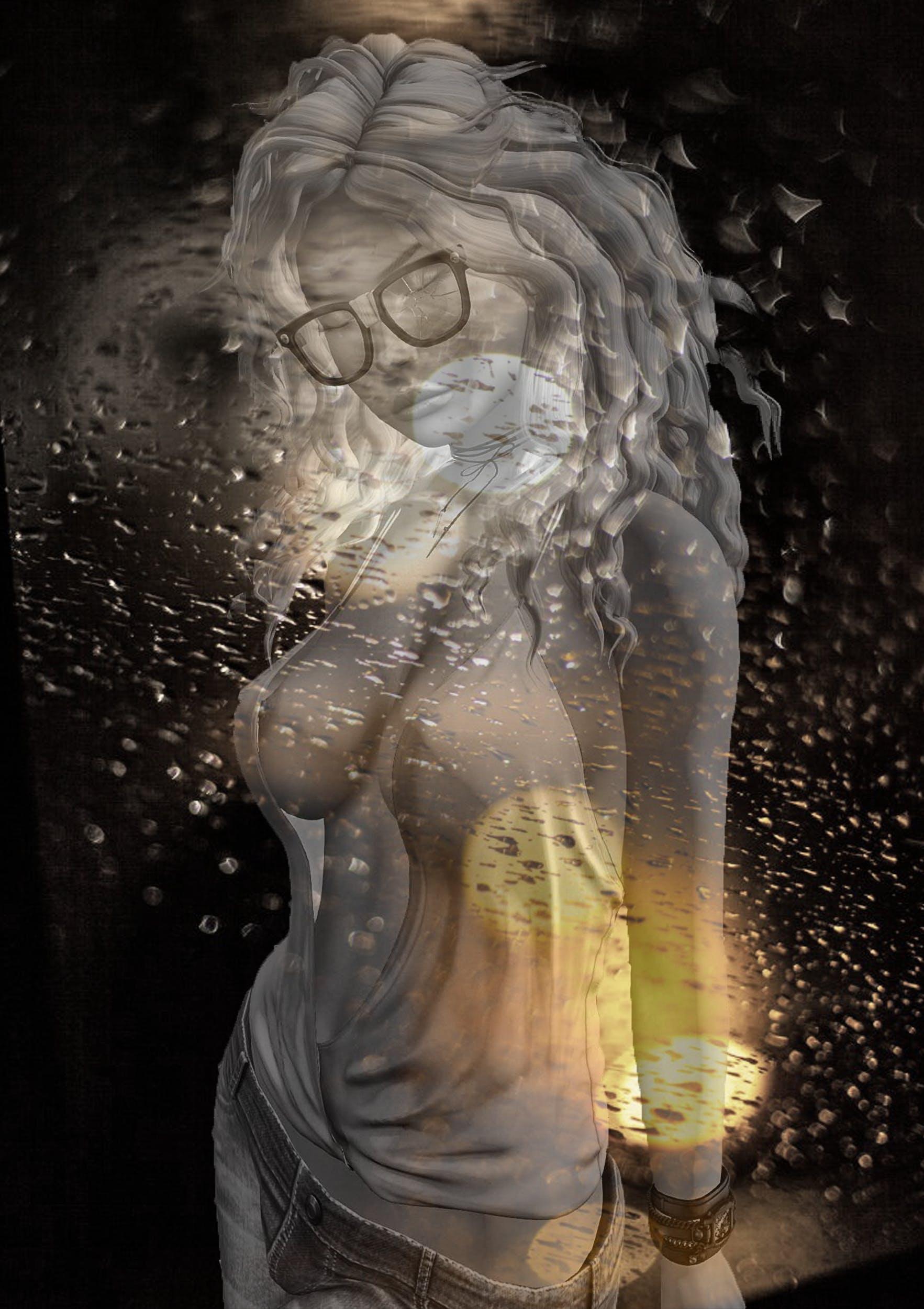 Free stock photo of abstract photo, digital art, woman