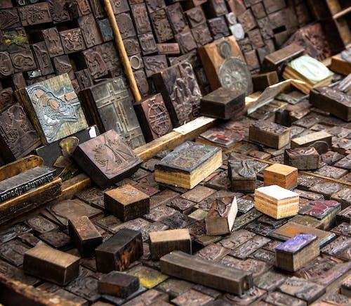 Imagine de stoc gratuită din design de litere, imprimare din lemn, imprimeu antic