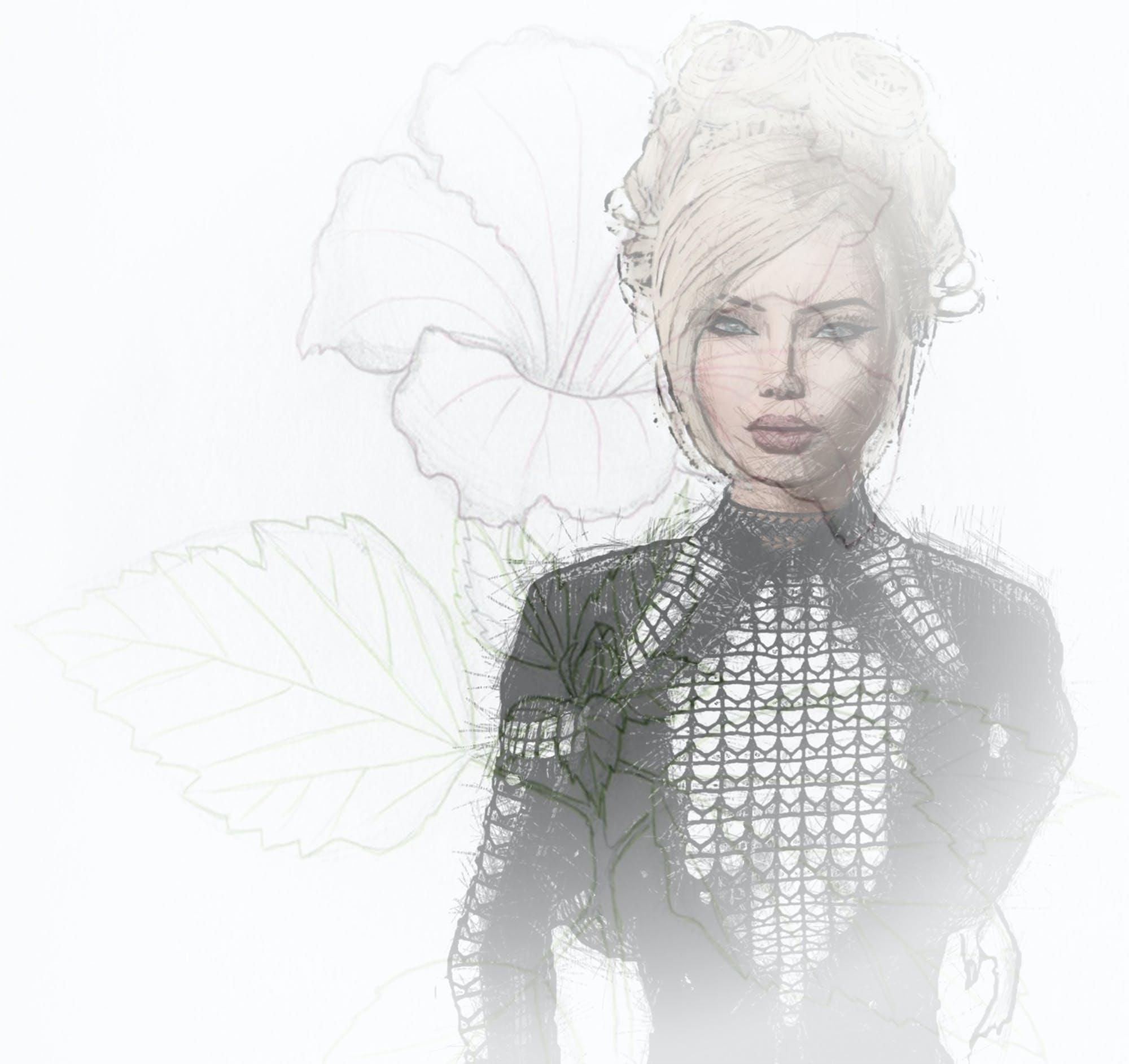 Free stock photo of digital art, woman