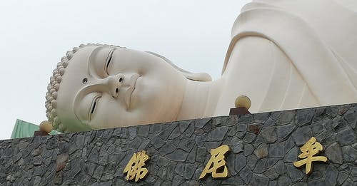 Free stock photo of asleep, buddha, giant, marble