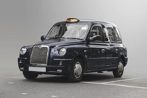 Free stock photo of black taxi, blue taxi, england taxi