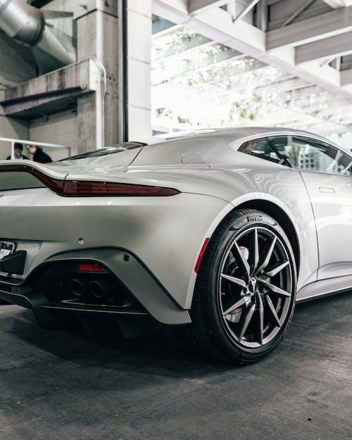 White Porsche 911 Parked in Garage