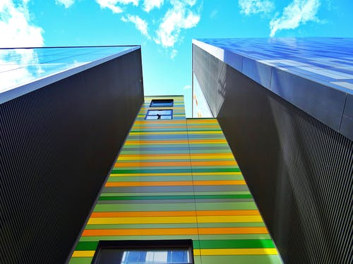 Green and Yellow Building