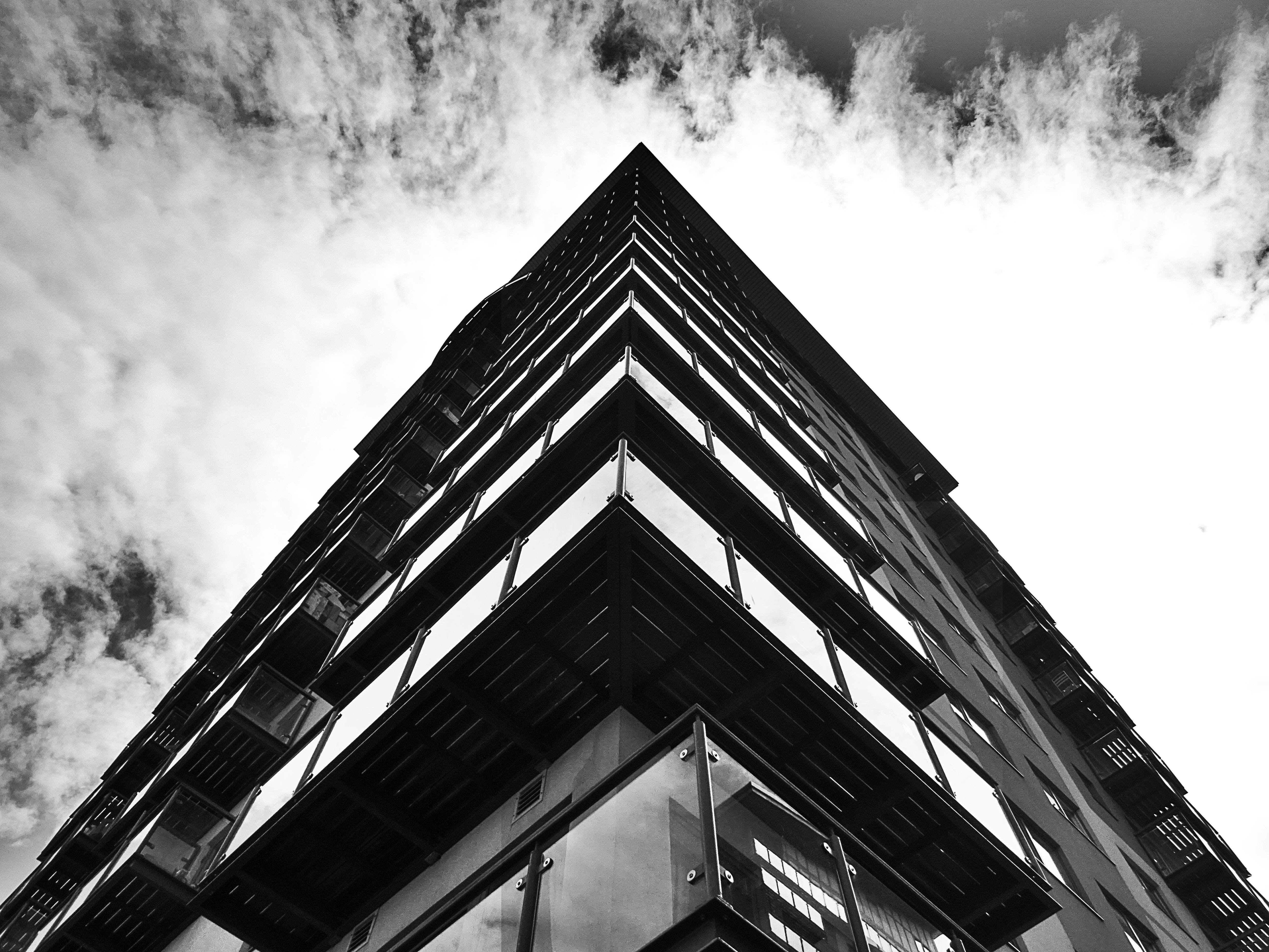Black Concrete Building Under Sky