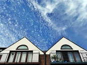 sky, building, house