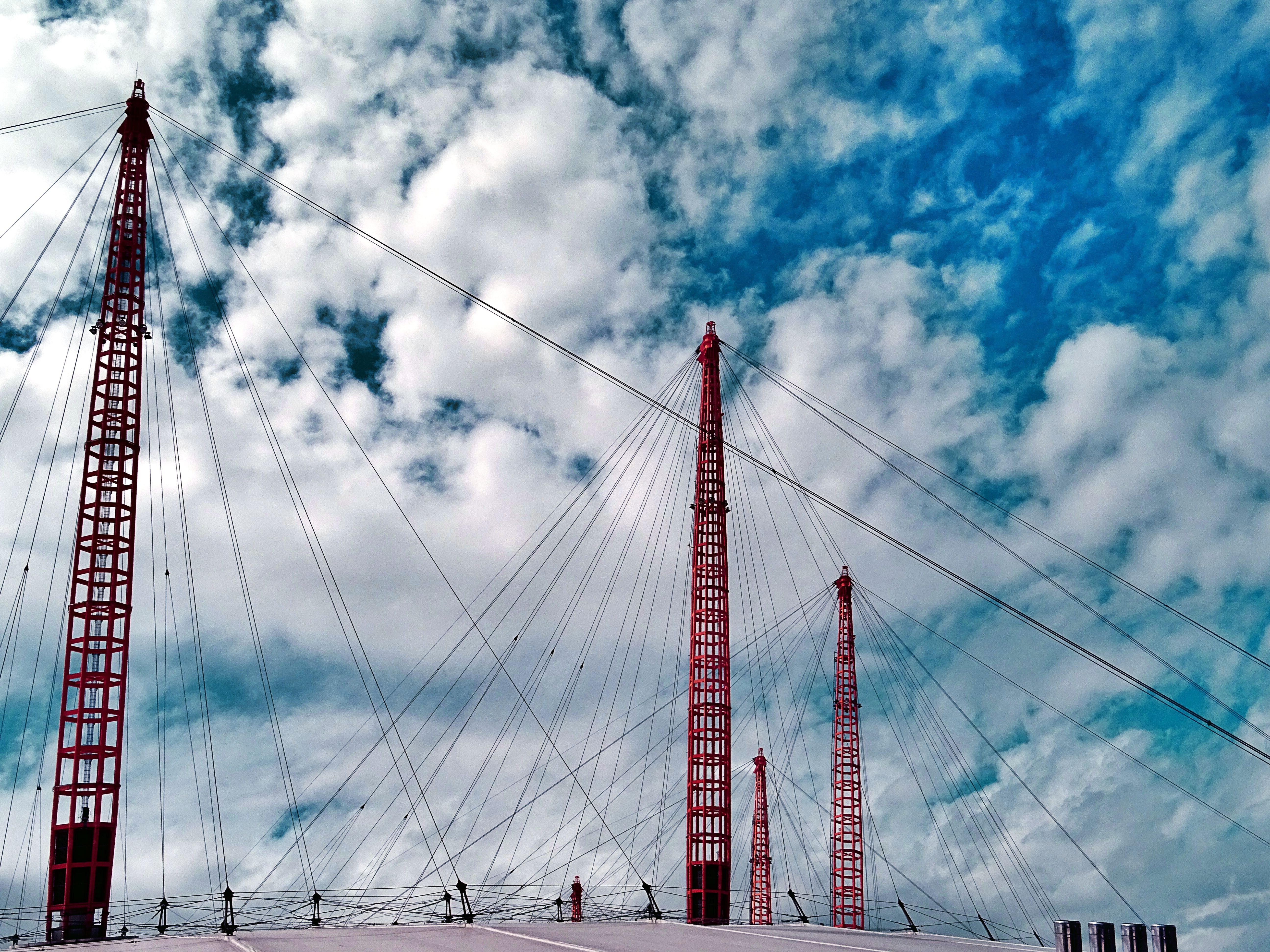 architecture, bridge, clouds