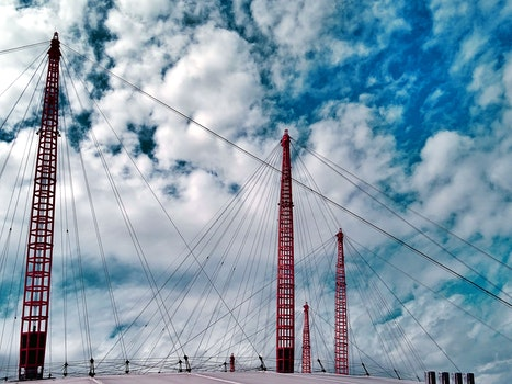 Free stock photo of clouds, bridge, architecture, suspension bridge