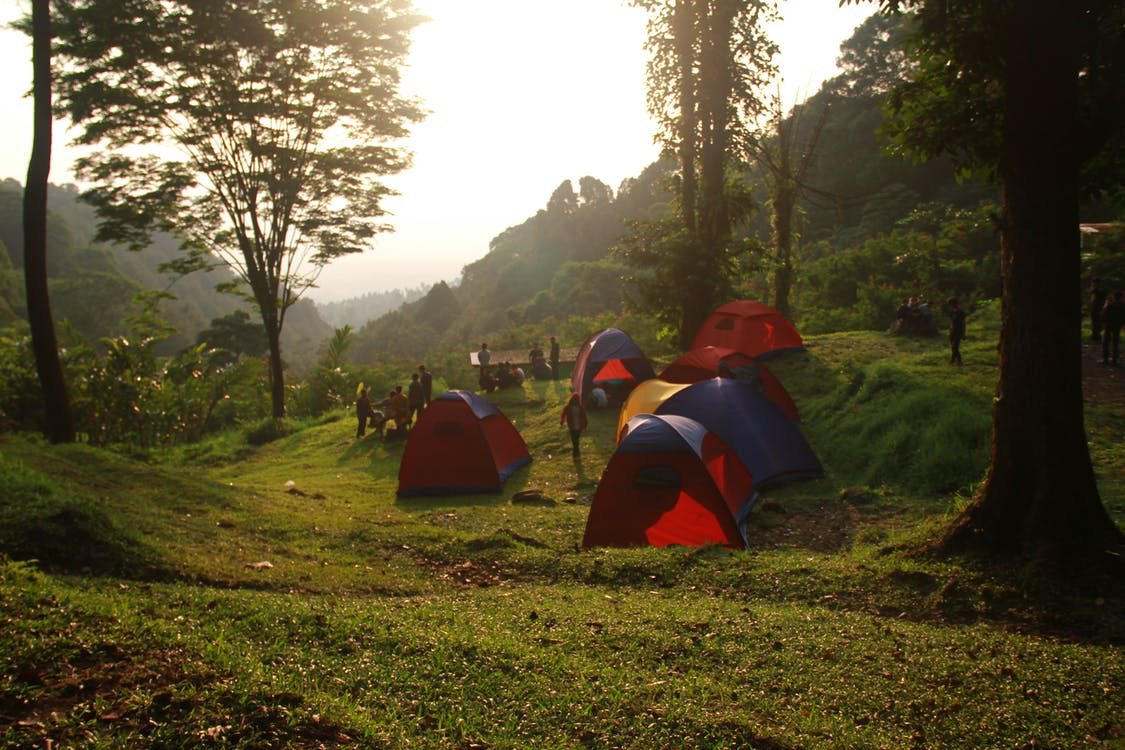산, 캠프, 캠핑