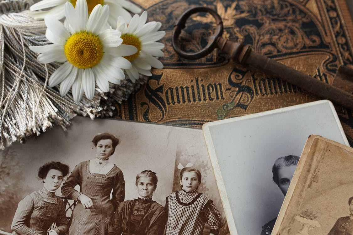 Close Up of Vintage Photographs