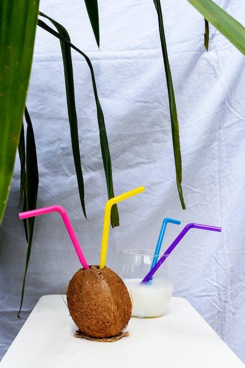 Fotos de stock gratuitas de agua de coco, al aire libre, coco, copa de cóctel
