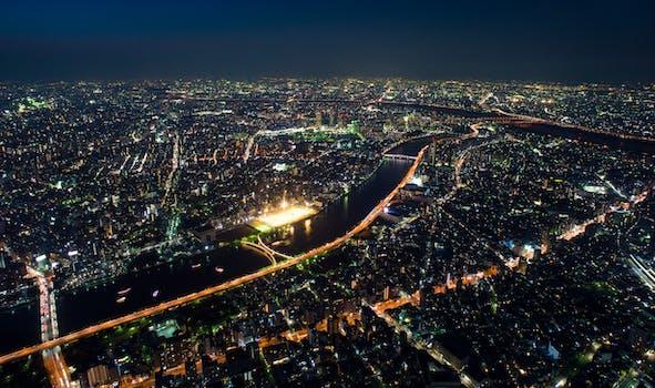 Free Stock Photo Of City Landscape Landmark Lights