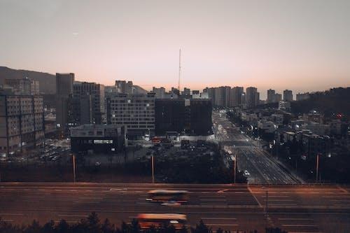 Immagine gratuita di オ レ ン ジ 色 の 空, 日 の 出, 朝 の 光