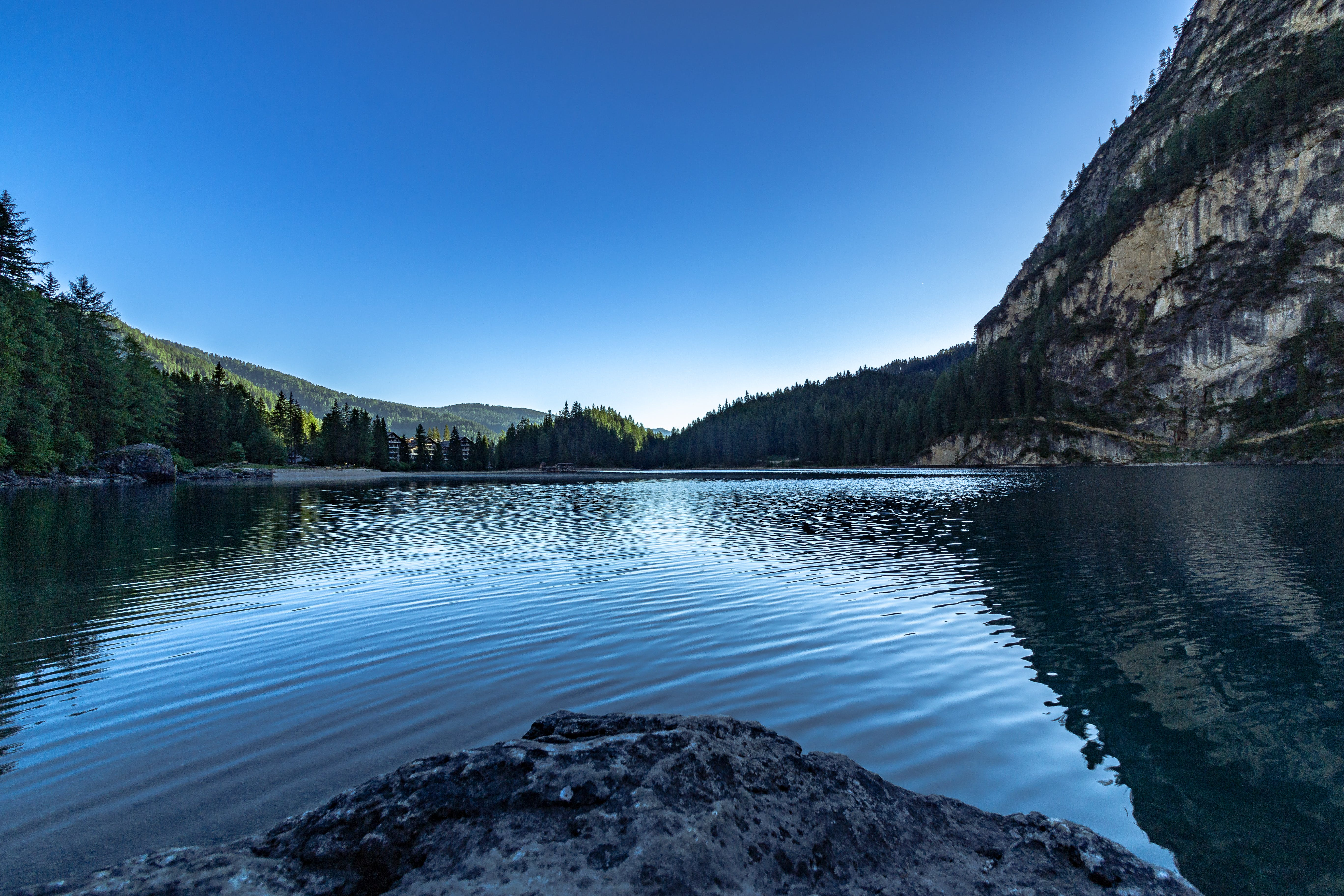 Lake in Middle of Mountain