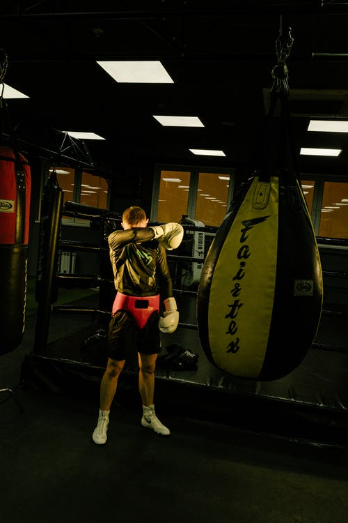 Man Standing On Boxing Ring