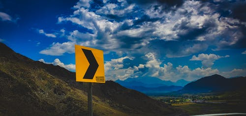 Free stock photo of clouds, dynamic, roadsign
