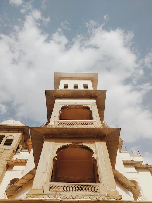 Ornamental terraces of ancient building