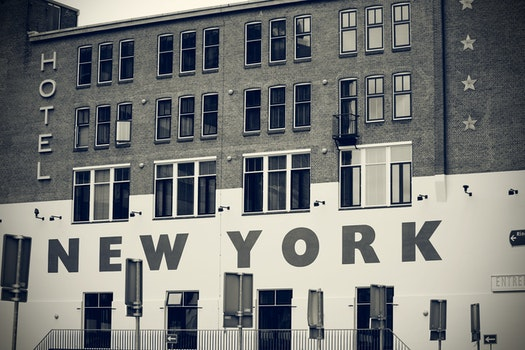 Free stock photo of black-and-white, city, hotel, building