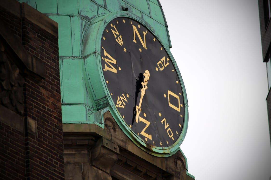 Free stock photo of architecture, city, city clock