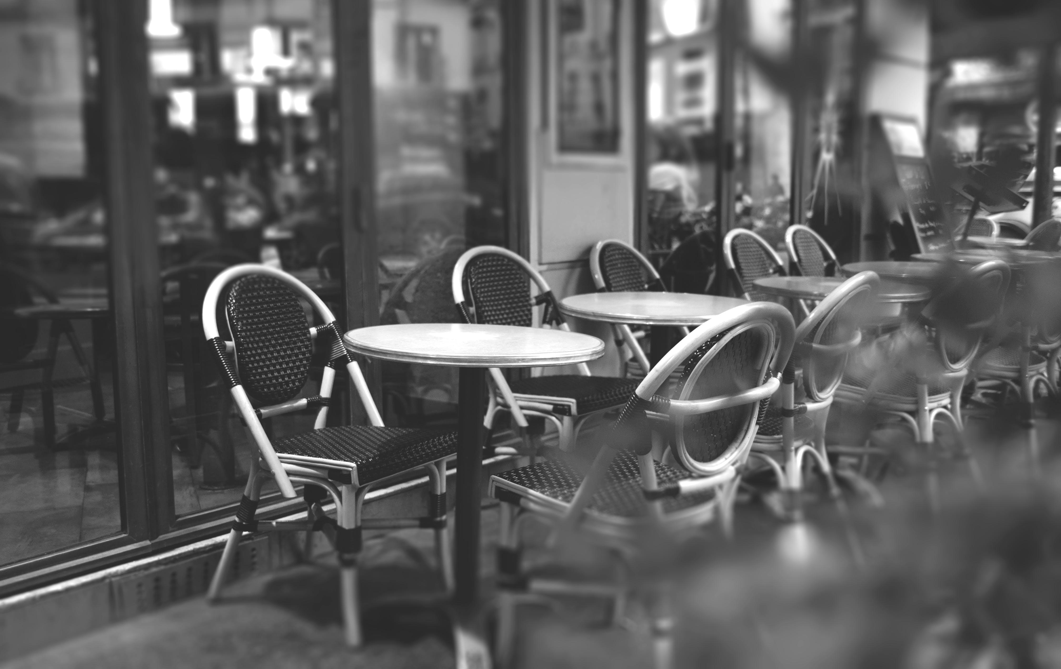 Round White Wooden Table