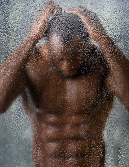 Topless Man in Water