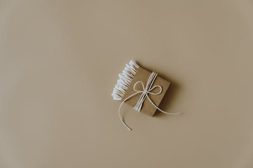 Cotton Buds Wrapped With Brown Paper