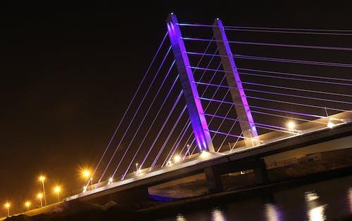Free stock photo of bridge, night view