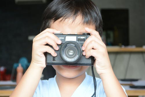 Free stock photo of boy, camera, child