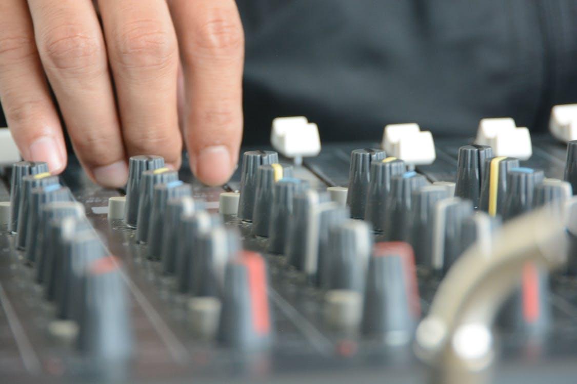 Free stock photo of audio mixer, knobs, sound