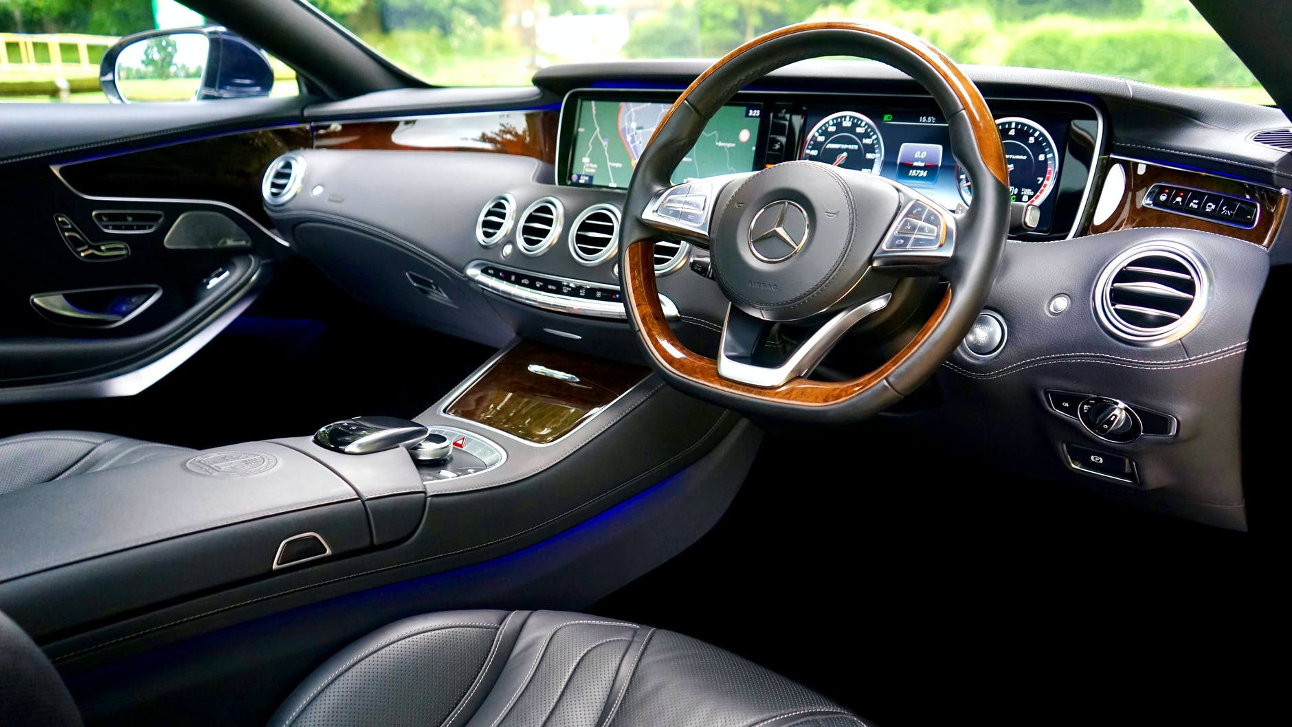 Black and brown car interior