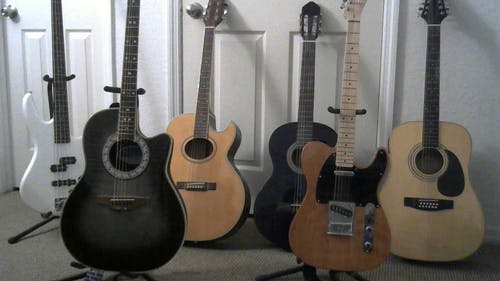 Free stock photo of guitars