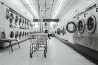 black-and-white, clean, housework