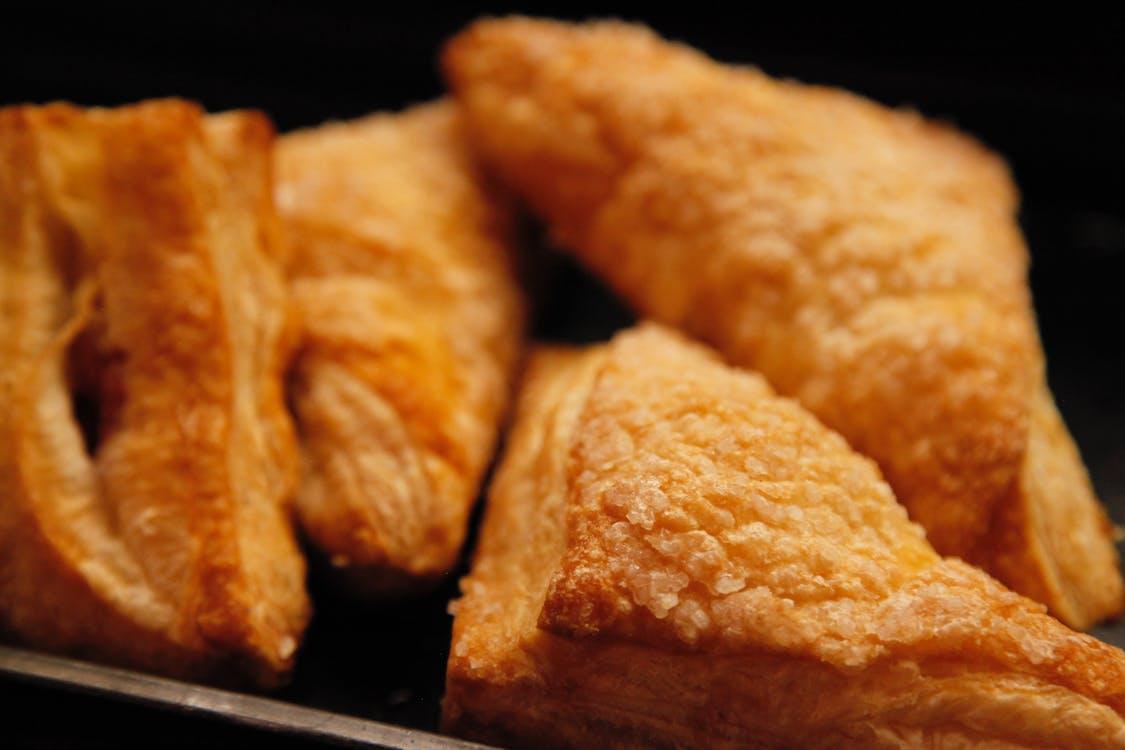 chleba, chutný, croissanty