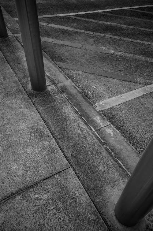Free stock photo of black and white, bollard, concrete, monochrome