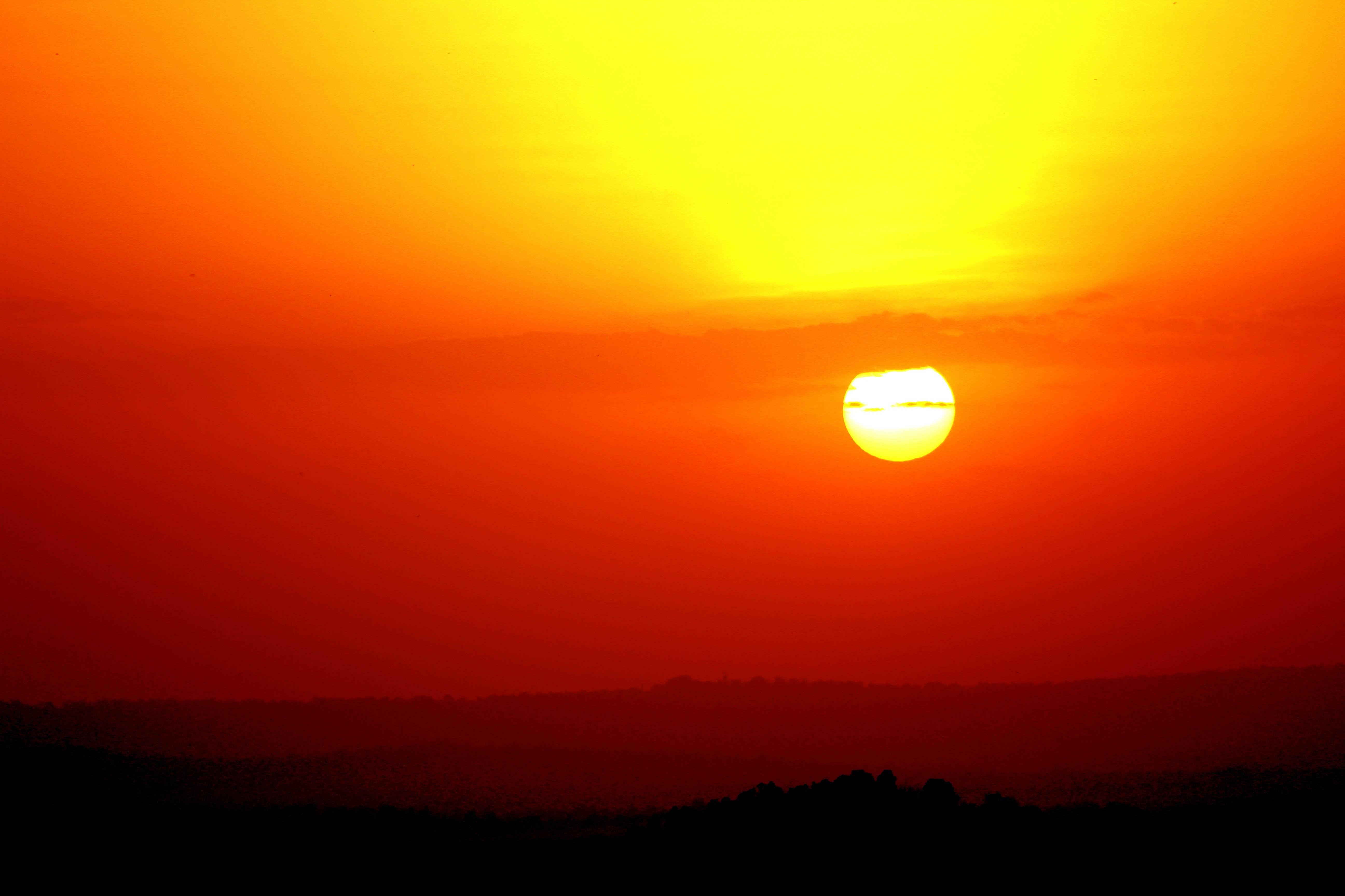 orange sun during sunset  u00b7 free stock photo